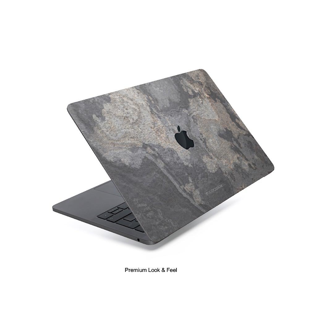 Unique MacBook 13 Pro Touchbar cover grey stone